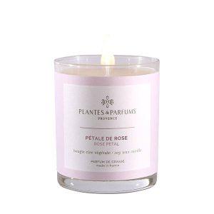 bougie végétale parfumée pétale de rose 180g