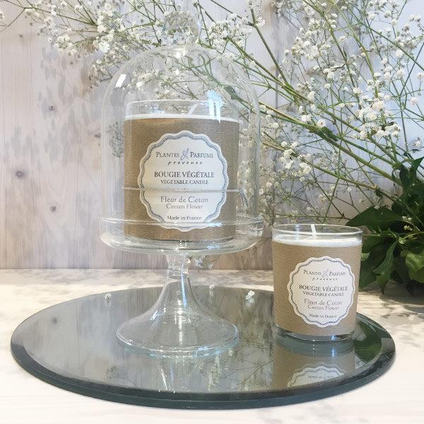 bougie naturelle fleur de coton, fabriqué artisanalement en Provence
