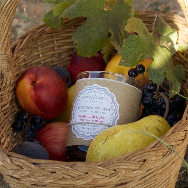 bougie parfumée végétale fruits du marché