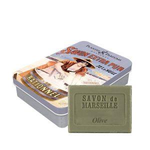 Boîte « Extra Pur » avec son savon de Marseille parfum Olive