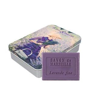 Boîte « Lavande 2 » avec savon de Marseille Lavande 100g