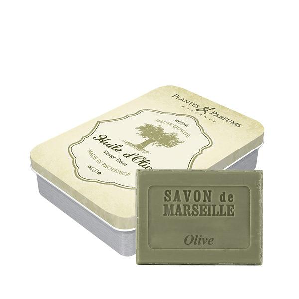 Boîte « Olive » avec son savon de Marseille Olive