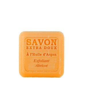 Savon à l'huile d'Argan Exfoliant parfum Abricot