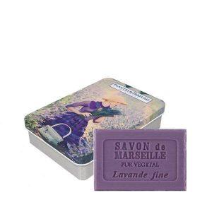Boîte avec savon Lavande 100g