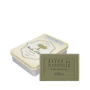 Boîte avec savon Olive 100g