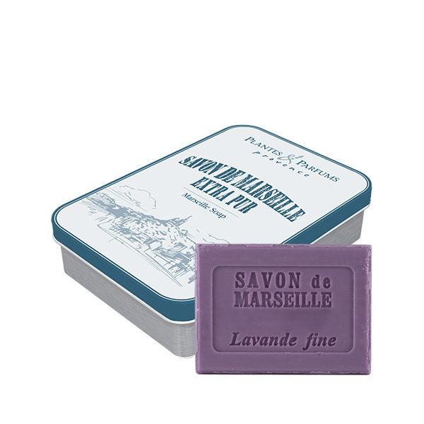 Boîte « Marseille Bleu » avec savon Lavande 100g