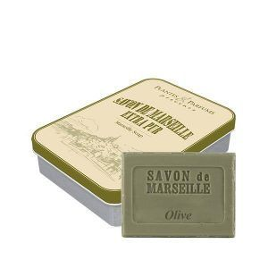 Boîte avec savon de Marseille parfum Olive
