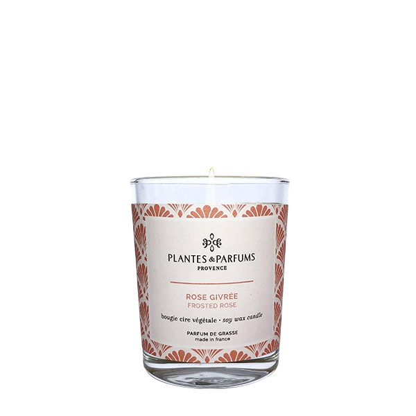 75g senteur rose givrée, parfum naturel et cire 100% végétale