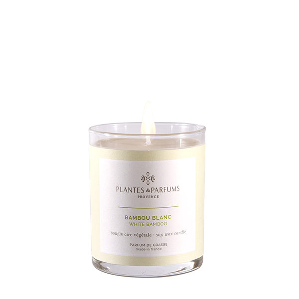 bougie végétale parfumée bambou blanc 75g