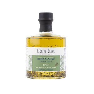 huile d'olive basilic empilable 25cl, huile d'olive catégorie supérieure extraite à froid, idée recette huile d'olive empilable basilic