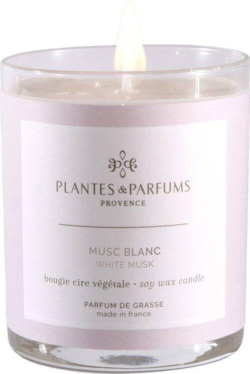 bougie parfumée cire végétale Musc Blanc